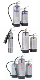chrome extinghuishers